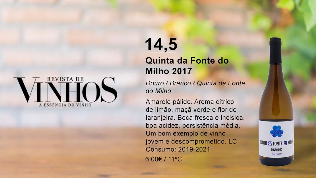 Quinta da Fonte do Milho Branco 2017 na edição renovada da Revista de Vinhos de Agosto